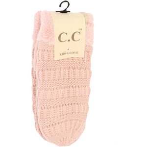 KIDS C.C Fuzzy Lined Mittens
