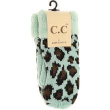 Load image into Gallery viewer, KIDS C.C Fuzzy Lined Leopard Mittens