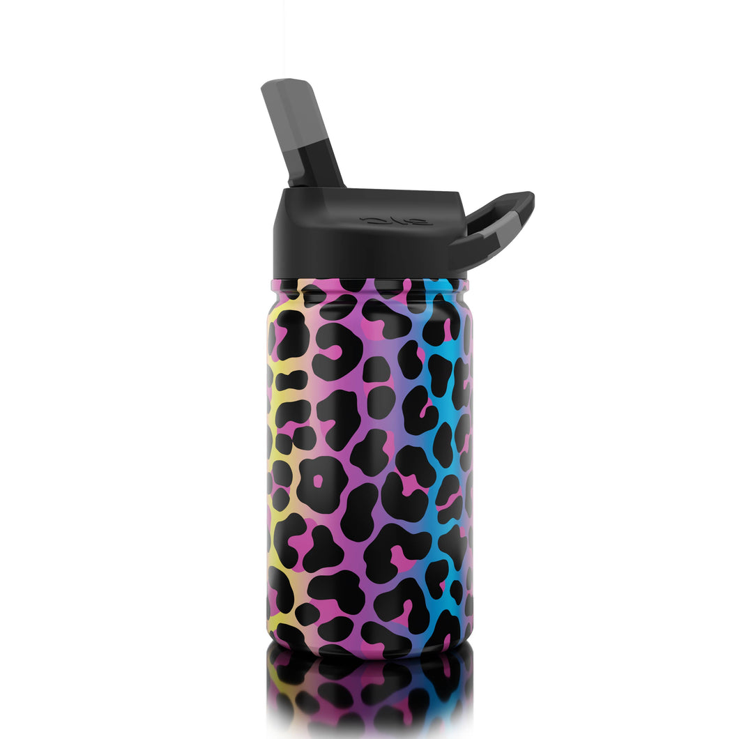 Lil SIC Neon Leopard Stainless Steel Kids Water Bottle