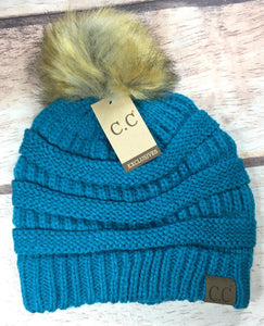 C.C Classic Pom Beanie- Multiple Colors