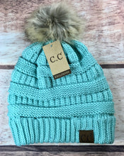 Load image into Gallery viewer, C.C Classic Pom Beanie- Multiple Colors