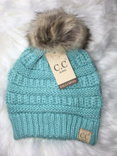 Load image into Gallery viewer, KIDS C.C Pom Beanie- Multiple Colors
