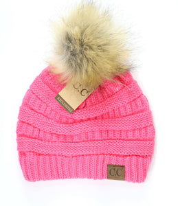 KIDS C.C Pom Beanie- Multiple Colors