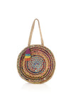 Large Mirabel Round Bag, Multi Color