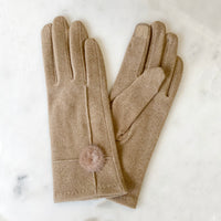 Jessica Tech Gloves in Camel