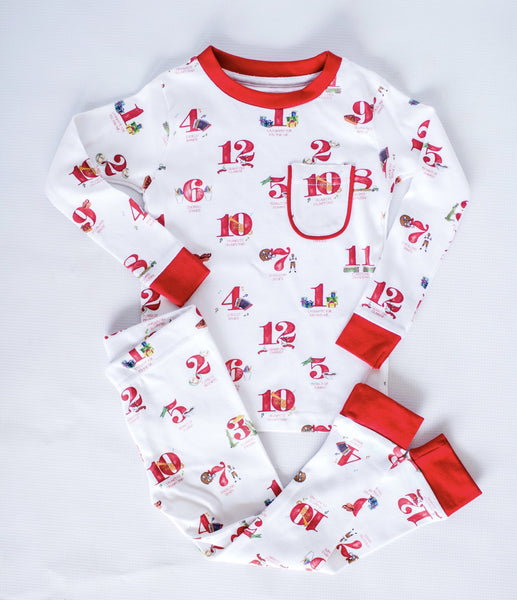 12 Days of Christmas Holiday PJs
