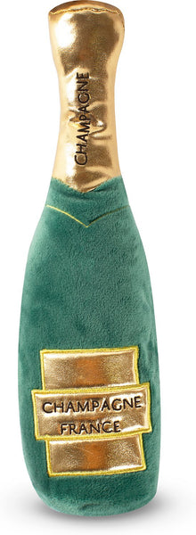 Champagne Plush Dog Toys- Drinks