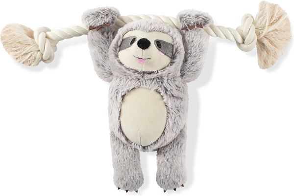 Girlie Sloth on a Rope Plush Dog Toys