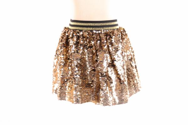 Kids Gold Sequin Skirt