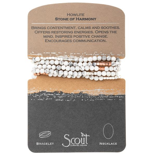 Scout Stone Wrap Bracelet/ Necklace (Multiple Color Options Available)