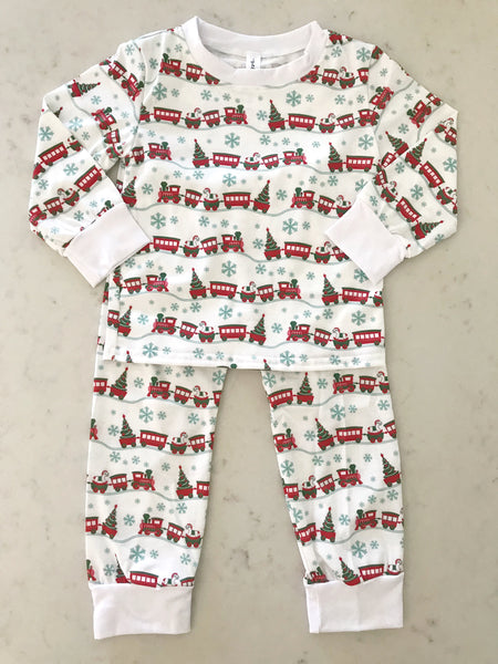 Train Holiday PJs