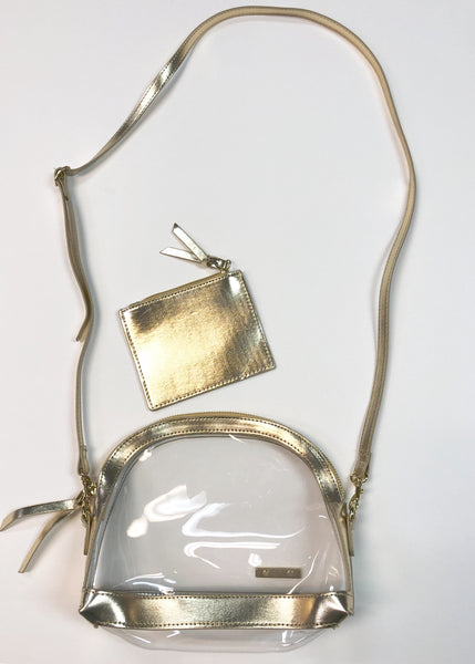 Clear Half Moon Crossbody