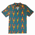 Crawfish Button Down Aloha Shirt
