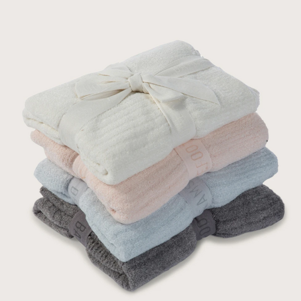 Cozy Chic Barefoot Dreams Ribbed Baby Blanket (Multiple Colors)