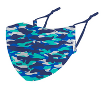 Face Mask Kid Blue Camo