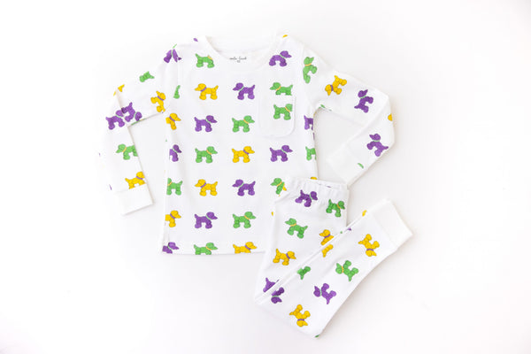 Mardi Paws Organic Cotton Pajama Set