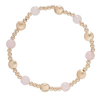 Gold Bead Bracelet, Honesty Sincerity Pattern 6mm Rose Quartz