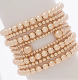 Classic Gold 6mm Bead Bracelet