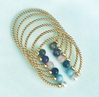 Gold Bead Cuff Classic 3mm