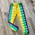 Mardi Gras Tie Dye Kids Leggings