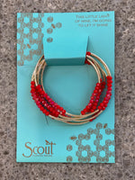 Scout Wrap Metallic Bracelet/Necklace (Multiple Color Options Available)