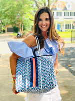 Light Blue Maze Tote