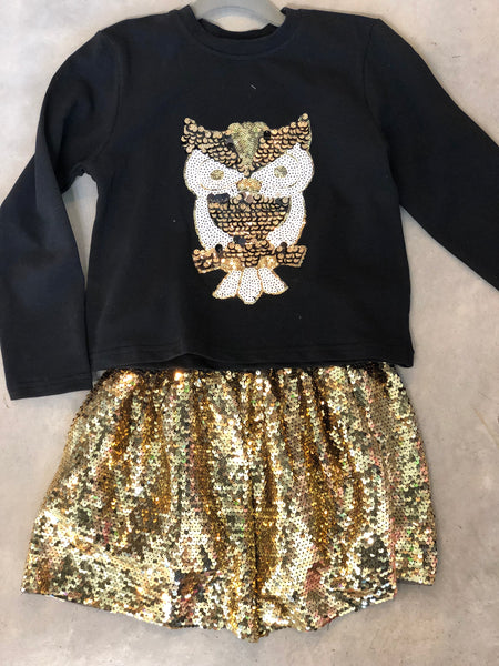 Owl Sequin Shirt