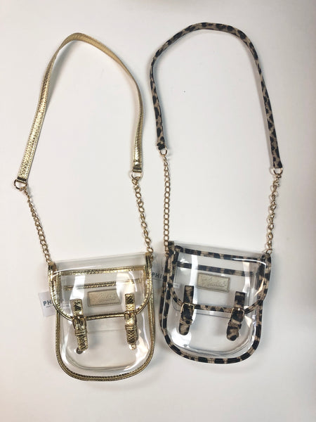 Clear Saddle Bag
