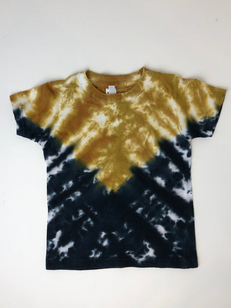 Black & Gold Tie Dye Tshirt, Kids