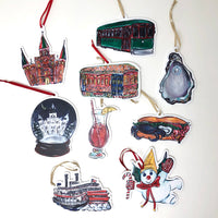 SALE New Orleans Ornaments