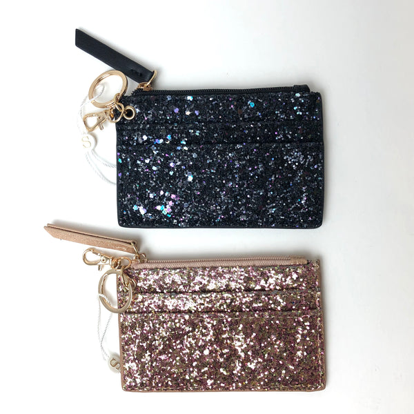 Sparkle Card Case with Key Ring