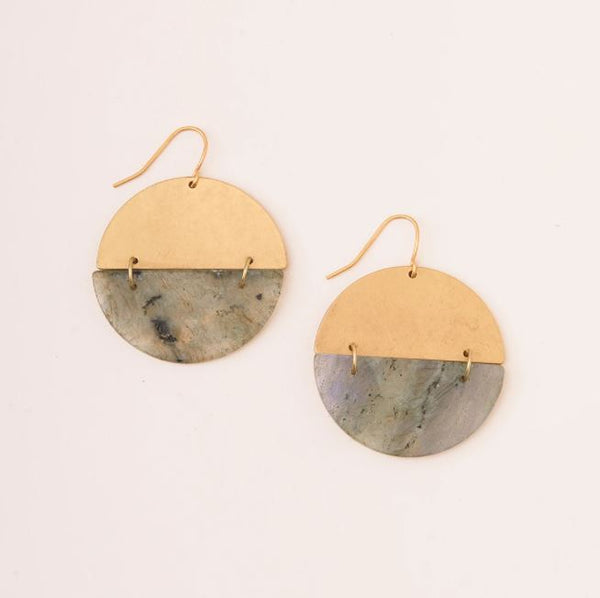 Full Moon Earring in Labradorite