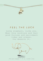 Feel the Luck Elephant Necklace