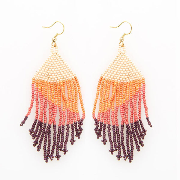 Seed Bead Earring, Pink Ombre