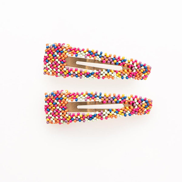 Confetti Beaded Barrette