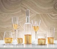 ***In-Store Pick-Up ONLY*** Gold Leaf Fez Glass Collection