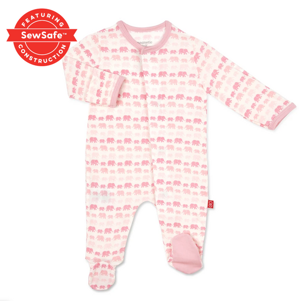 Magnetic Footie PJ, Pink Elephants