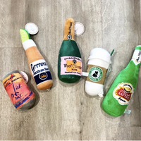 Plush Dog Toys- Drinks