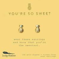 You're So Sweet Pineapple Earrings