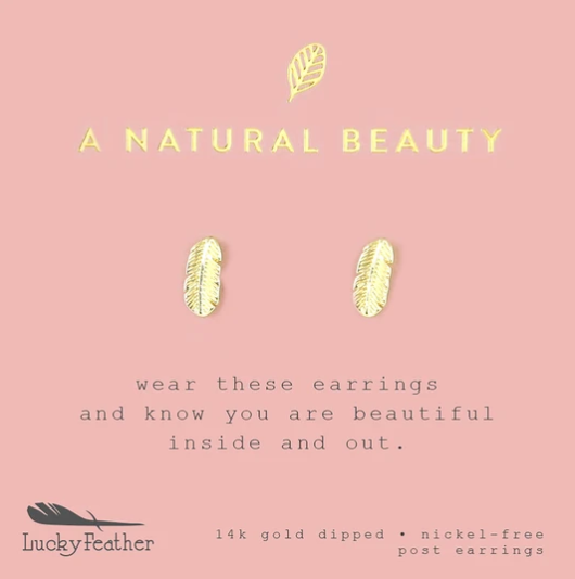A Natural Beauty Feather Earrings