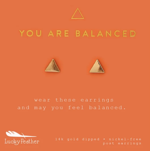 You Are Balanced Triangle Earrings