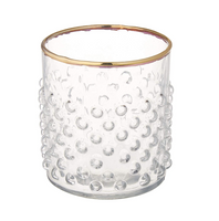 Bubble Glass with Gold Rim