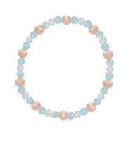 Gold Bead Bracelet, Sincerity 4mm Dignity 6mm, Amazonite