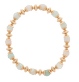 Gold Bead Bracelet Extends, Loyalty 6mm, Turquoise Agate