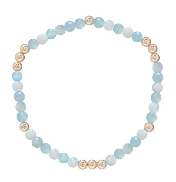 Gold Bead Bracelet, Worthy 4mm, Amazonite