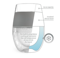 Wine Freeze Cooling Cup, Blue Clear