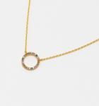 Multi CZ Circle Necklace