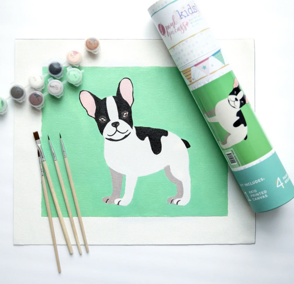 Paint By Numbers Kids, Dog Frenchie French