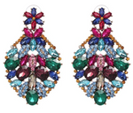 Crystal Garden Bold Drop Earrings