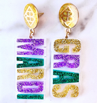 Mardi Gras Words Earrings